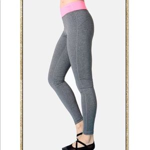 'Show up' Grey Neon Pink Athletic Leggings